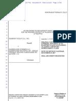 Piranha Motion for Summary Judgment