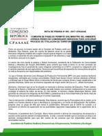 COMISIÓN DE PUEBLOS PERMITIÓ QUE MINISTRA DEL AMBIENTE ATIENDA PEDIDO DE COMUNIDADES INDÍGENAS PARA ACELERAR PROCESO DE TITULACIÓN DE TERRITORIO COMUNAL EN UCAYALI