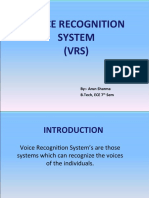 Voice Recognition System PPT