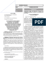 Ley que deroga parcialmente el artículo 1 del Decreto Legislativo 1242 Decreto Legislativo que modifica el Decreto Legislativo 1149 Ley de la carrera y situación del personal de la Policía Nacional del Perú y restituye la vigencia del artículo 87 del Decreto Legislativo 1149