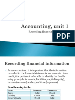 Accounting, Unit 1 - Topic 2 (Students)