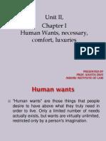 9 Unit II Human Wants