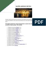 Berikut Daftar Pelabuhan Dunia