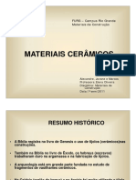 Materiais Cerâmicos....