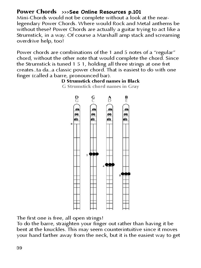 Power Chords Instructions