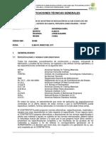 1.- Especificaciones Tecnicas Generales