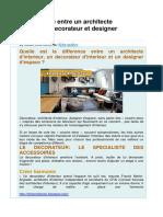 Fiche Métier Larchitecte Dinterieur