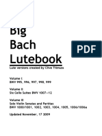 The Big Bach Lutebook by Clive Titmuss