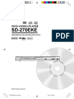Toshiba Dvd SD-270E Deutsch
