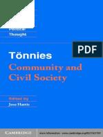 (Cambridge Texts in the History of Political Thought) Ferdinand Tönnies, Jose Harris, Margaret Hollis-Tönnies_ Community and Civil Society -Cambridge University Press (2001).pdf