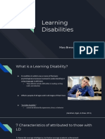 learning disabilities presentation
