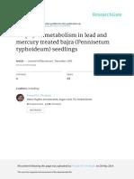 Porphyrin Metabolism in Lead and Mercury Treated b