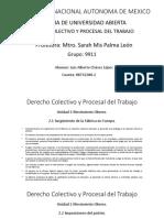 Derecho Colectivo y Procesal Del Trabajo, Unidades 2 y 3