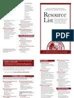 OIE Resource Document List
