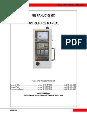 Fanuc 0i Operator Manual1 | Numerical Control | Computer