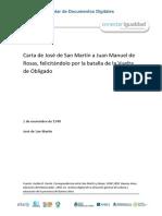 San Martín a Rosas (1848)