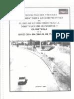 Especificaciones Técnicas Puentes y Carreteras