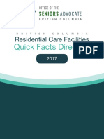 Residential Care Quick Facts Directory 2017