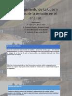 Sostenimiento de Taludes y Efectos de La Erosión