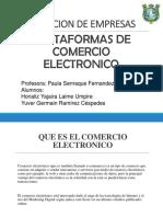 Plataformas de Comercio Electronico