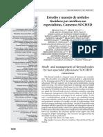 Estudio y Manejo de Nodulos Tiroideos Por Medicos No Especialistas Consenso Soched