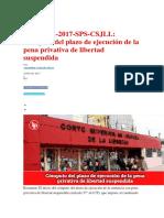 Cómputo Del Plazo de Ejecución de La Pena Privativa de Libertad Suspendida a PLENARIO