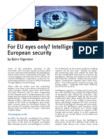 Brief 8 EU Intelligence Cooperation