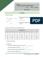 Teste Diagnostico 2 Ano matemática