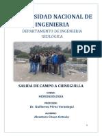 Informe Salida de CampoCIENEGUILLA