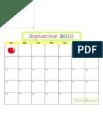 September 2010 Calendar TomKat Studio