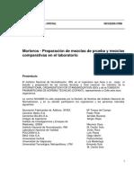 NCh 2260 of 96 Morteros Preparación de Mezclas de Prueba y Mezclas Comparativas en Laboratorio
