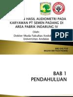 Gambaran Hasil Audiometri Pada Karyawan Pt Semen Padang