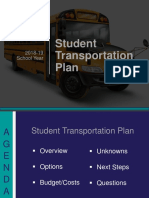 2018-19 Dallas ISD Student Transportation Plan