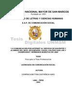 Tesis_la Comunicacion Por Internet
