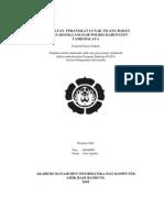 Pembuatan Perangkat Lunak Tilang Badan Urusan