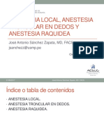 Anestesia local, troncular - Dr. Sanchéz