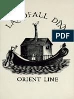 Orient Line Landfall Dinner, 6th April 1937