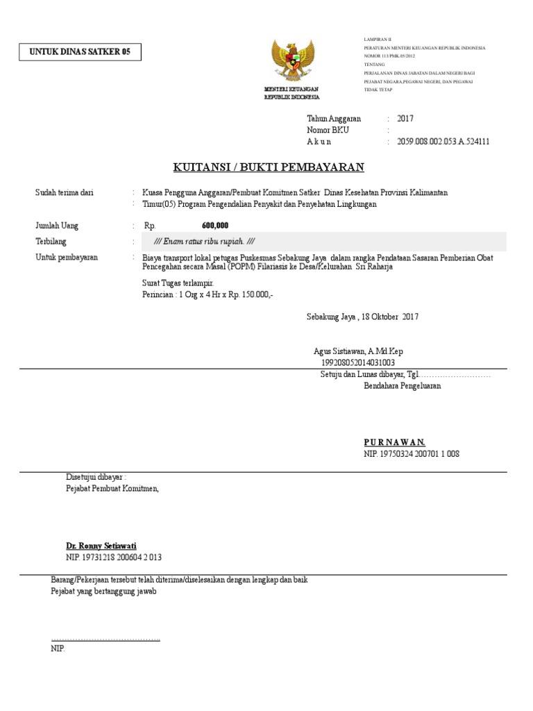 Copy Of Contoh Spj Data Sasaran Dr Eka