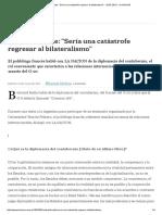 Bertrand Badie_ _Sería Una Catástrofe Regresar Al Bilateralismo_ - 23.07