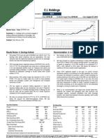 CI Holdings 4QFY10 - Retain Buy