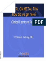 Dr Fehring Powerpoint Metal-On-Metal, How Did We Get Here