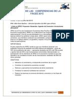 Resumen de Las Conferencias de La Facee 2015