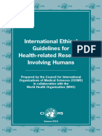 2016 WHO-CIOMS Ethical Guidelines