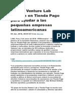 Acción Venture Lab Invierte en Tienda Pago Para Ayudar a Las Pequeñas Empresas Latinoamericanas