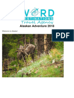 Word Destinations Alaska July 2018