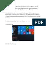Windows Firefall Adalah Perangkat Lunak Yang Terdapat Pada Semua Versi Windows