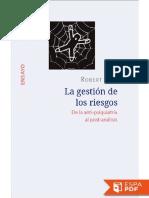 La Gestion de Los Riesgos - Robert Castel