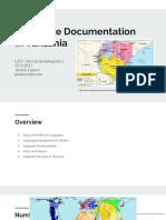 language documentation  in tanzania