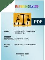 Silabo General Legislacion Comercial Programacion Curricular