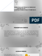 Konversi Energi Dalam Tinjauan Biologi Lingkungan